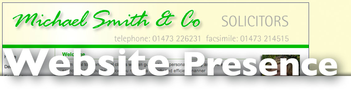website presence from web site designers electric ink ipswich suffolk